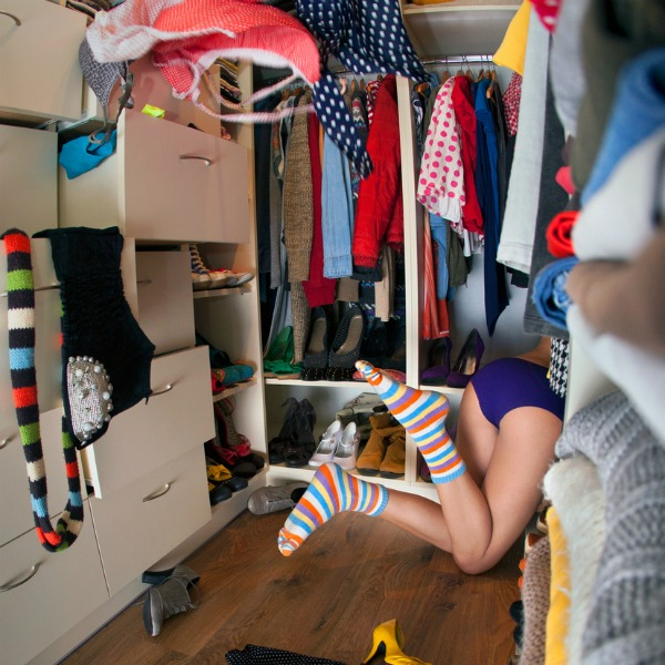 messy closet image
