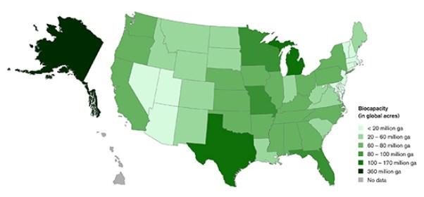 biocapacity map united states