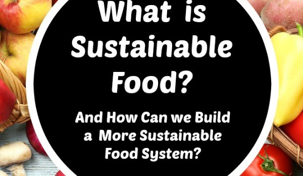 what is sustainable food