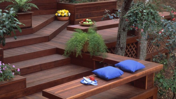 redwood sustainable decking