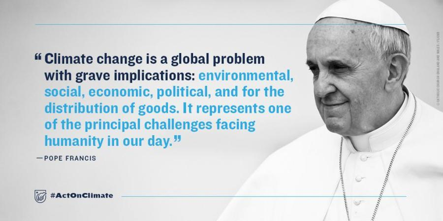 pope climate change