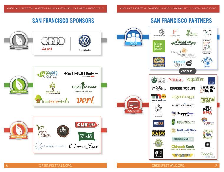 green festivals sponsors