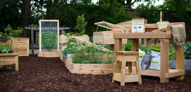 Farmer D raised bed garden