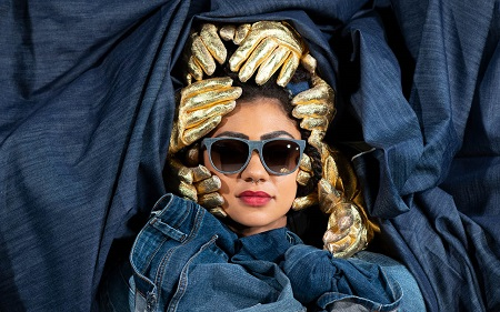 New stylish sunglasses made from up-cycled denim