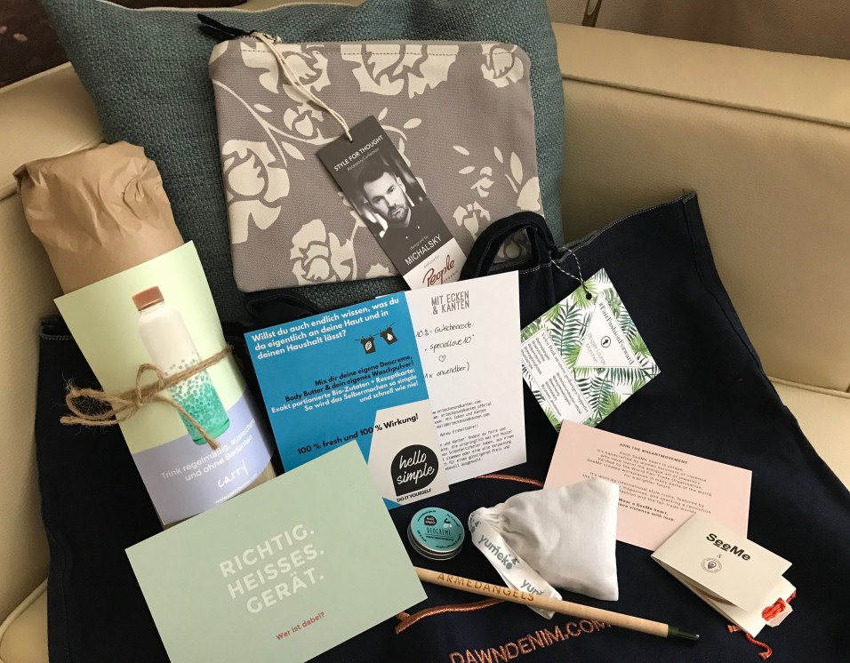 Goodie Bag zum Fair Fashion Blogger Treffen