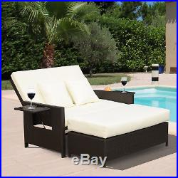 outdoor chaise lounge chair with ottoman bows for weddings 2pc rattan wicker and set double seat bench