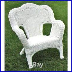 Resin Patio Lounge Chairs Round Chair Name International Caravan 31802chwt Wicker Set Of 2 White