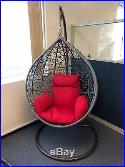 wicker hammock chair little tikes table and chairs target outdoor hanging swing stand patio porch egg