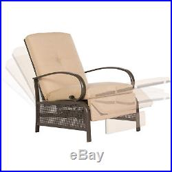 wicker recliner chair spandex lycra cover for wedding party sunlit adjustable cushion pool chaise patio lounge outdoor