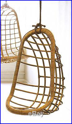 hanging rattan chair brown leather dining chairs for sale two s company includes rope clamp