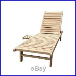 Chaise Lawn Chair Arm Covers Pattern Wooden Lounge Outdoor Indoor Patio Adjustable Furniture