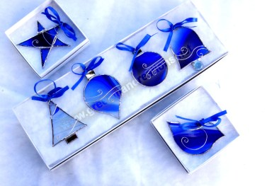 Holiday Ornaments in Blue