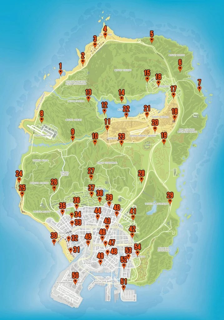 Gta V Letter Scraps Map : letter, scraps, Collectable, Locations, Green, Gaming