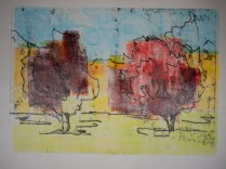 Monoprint combined with back drawing