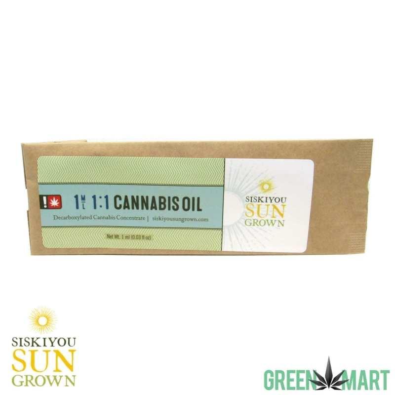 Siskiyou Sungrown 1:1 Cannabis Oil RSO