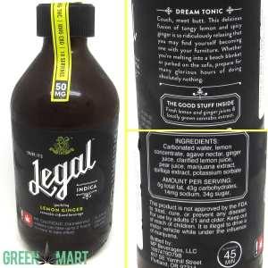 Legal Beverages Lemon Ginger Indica