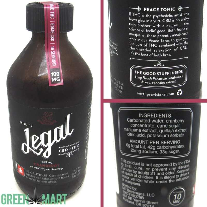 Legal Beverages 1:1 Cranberry