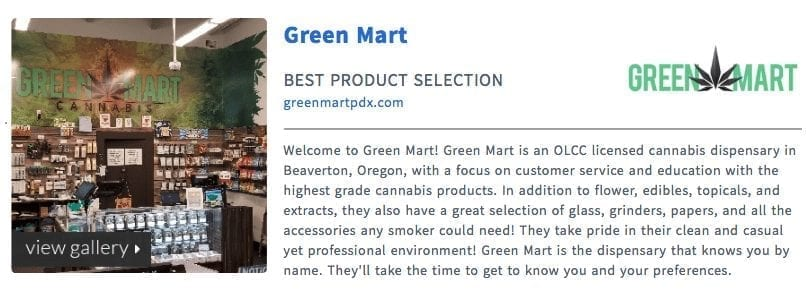 LeafBuyer Best Product Selection in Oregon 2018