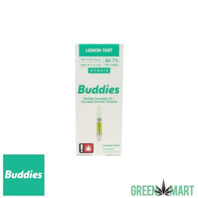 Buddies Brand Distillate Cartridge - Lemon Tart