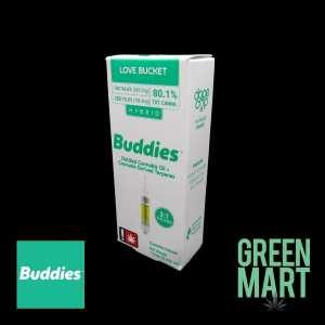 Buddies Brand Distillate Cartridge - Love Bucket Front