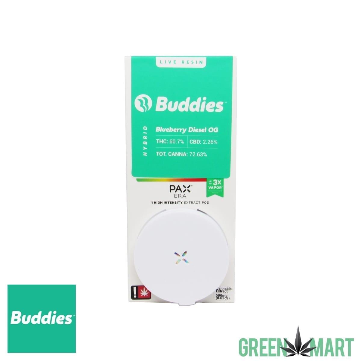 Buddies Brand Pax Pod – Blueberry Diesel OG Live Resin