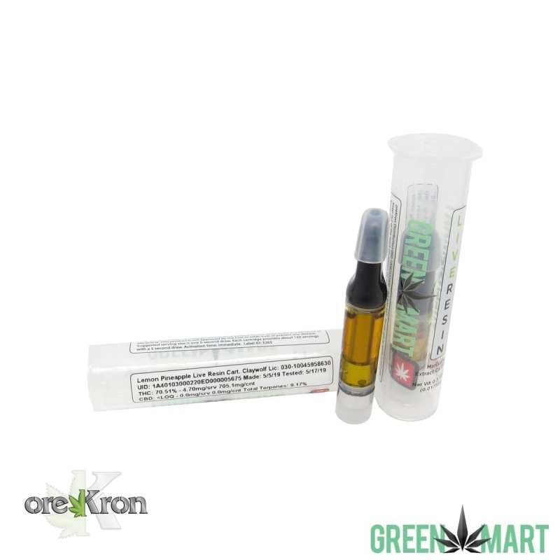 Green Mart Live Resin Carts- Lemon Pineapple