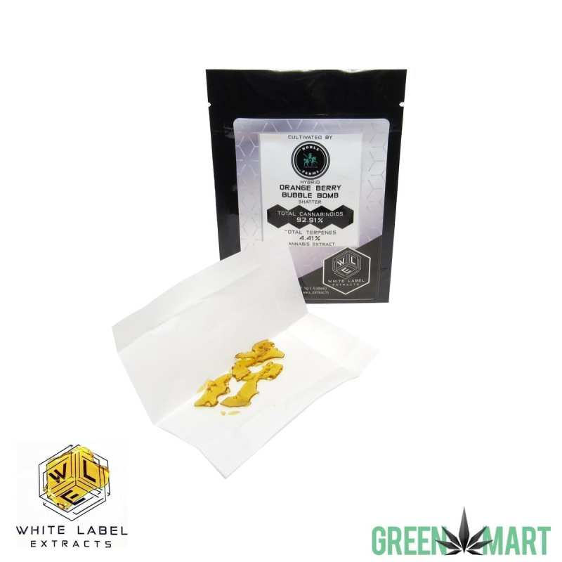 White Label Extracts - Orange Berry Bubble Bomb Shatter