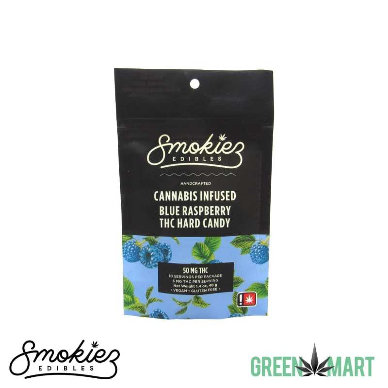 Smokiez Edibles THC Hard Candy - Blue Raspberry