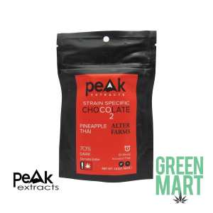 Peak Extracts THC Dark Chocolate Bar - Pineapple Thai