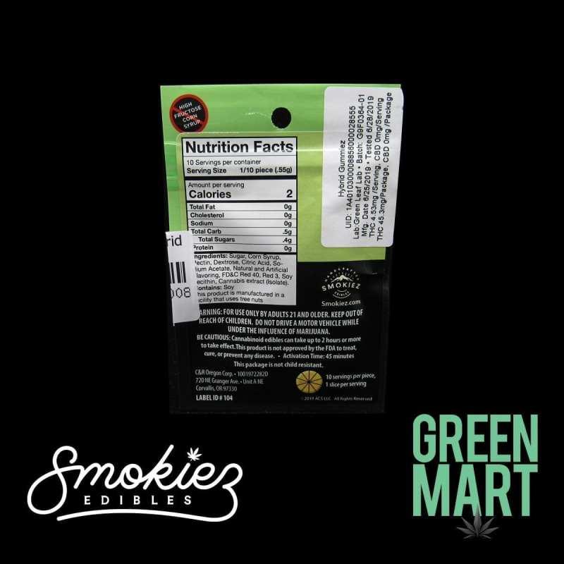 Smokiez Edibles - Watermelon Gummies Single Back