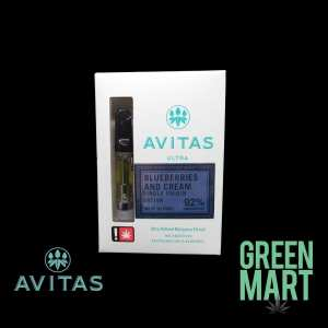 Avitas Distillate Cartridges - Blueberries and Cream Full G Front