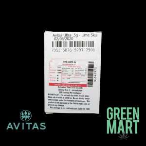 Avitas Distillate Cartridges - Lime Skunk Half Back