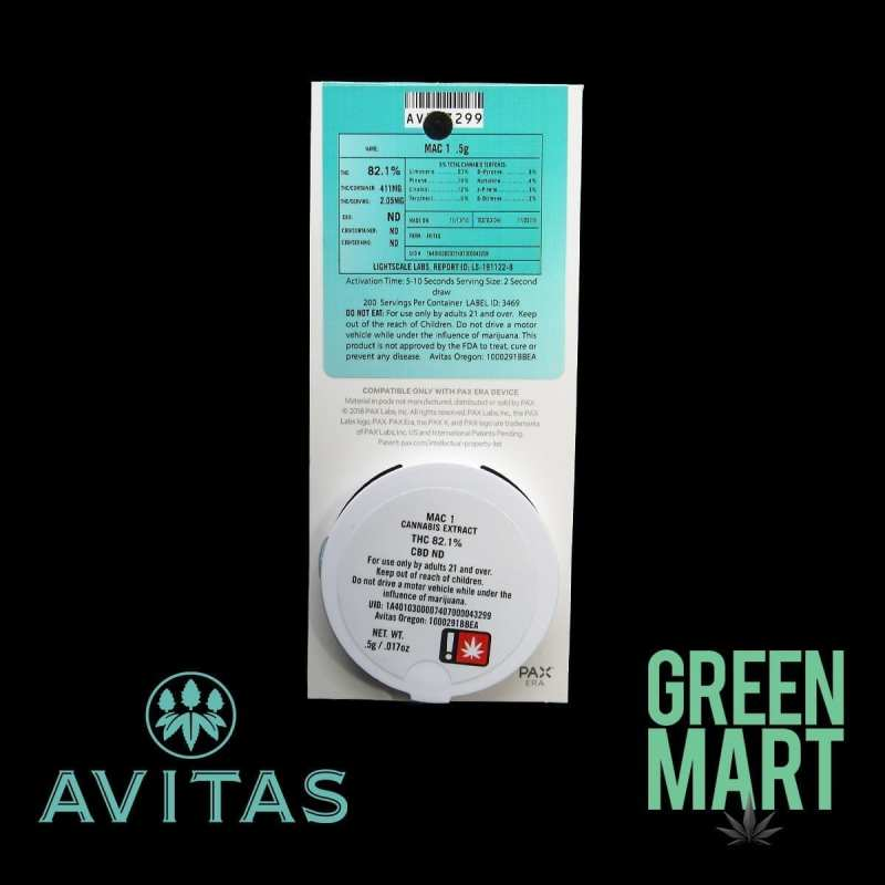 Avitas Pax Pod - Mac 1 Back