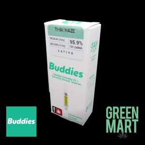 Buddies Distillate Cartridges - Thai Haze Front
