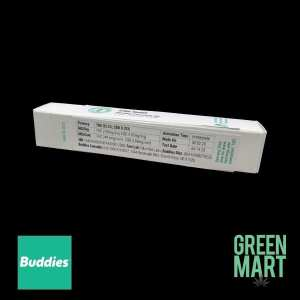 Buddies Brand Distillate Disposable Vape - 24k Gold All-in-One Back