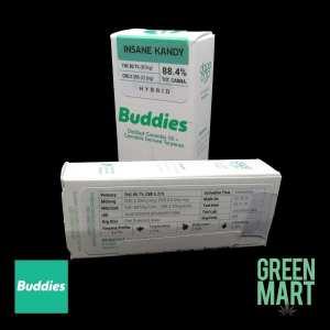Buddies Brand Distillate Cartridge - Insane Kandy 1g BlackBG