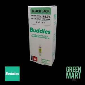 Buddies Brand Distillate Cartridges - Black Jack Half Gram