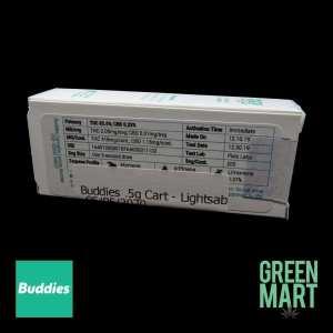 Buddies Brand Distillate Cartridge - Lightsaber Half Back