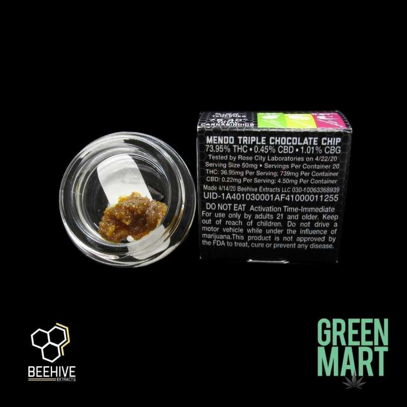 Bee Hive Extracts - Mendo Triple Chocolate Chip Back