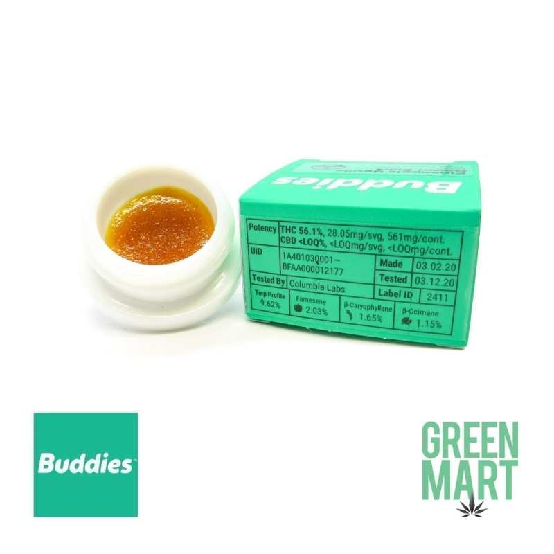 Buddies Dab - Pineapple Upside Down Cake- Back