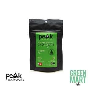 Peak Extracts THC Dark Chocolate Bar – Cherry Pie