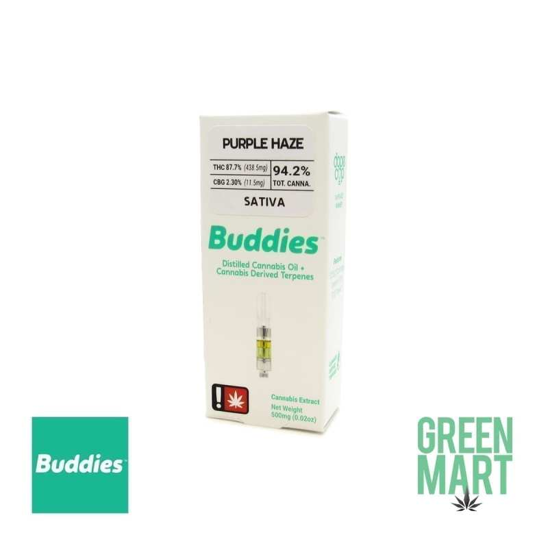 Buddies Brand Distillate Cartridge - Purple Haze