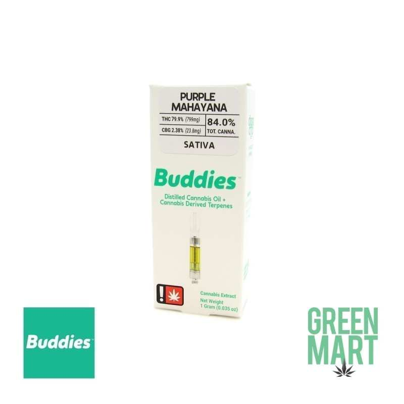 Buddies Brand Distillate Cartridge - Purple Mahayana