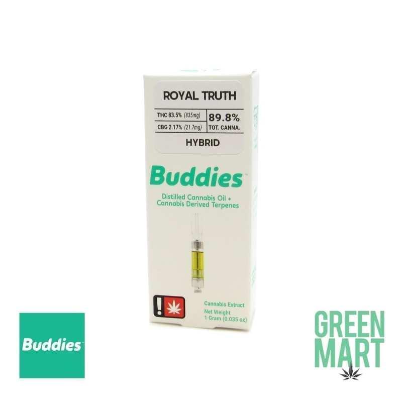 Buddies Brand Distillate Cartridge - Royal Truth