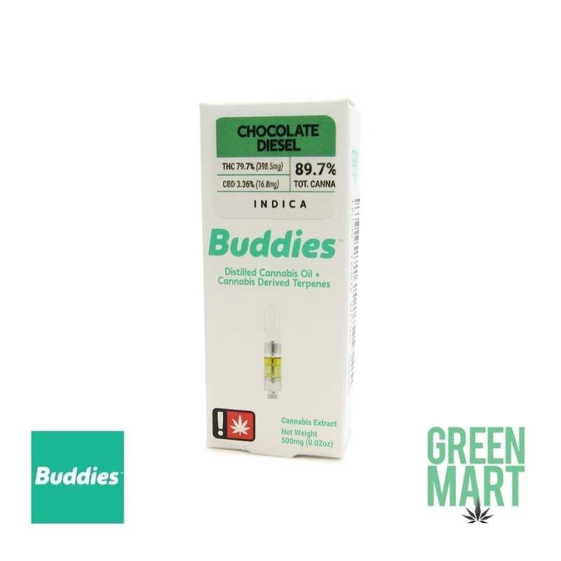 Buddies Brand Distillate Cartridge - Chocolate Diesel