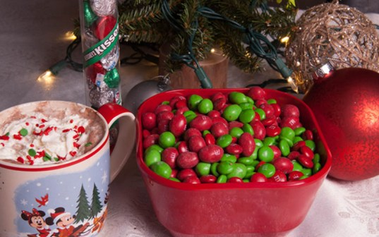 Red and Green Christmas M&M's