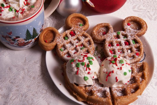 Disney World Very Merry Christmas Party Mickey Waffle