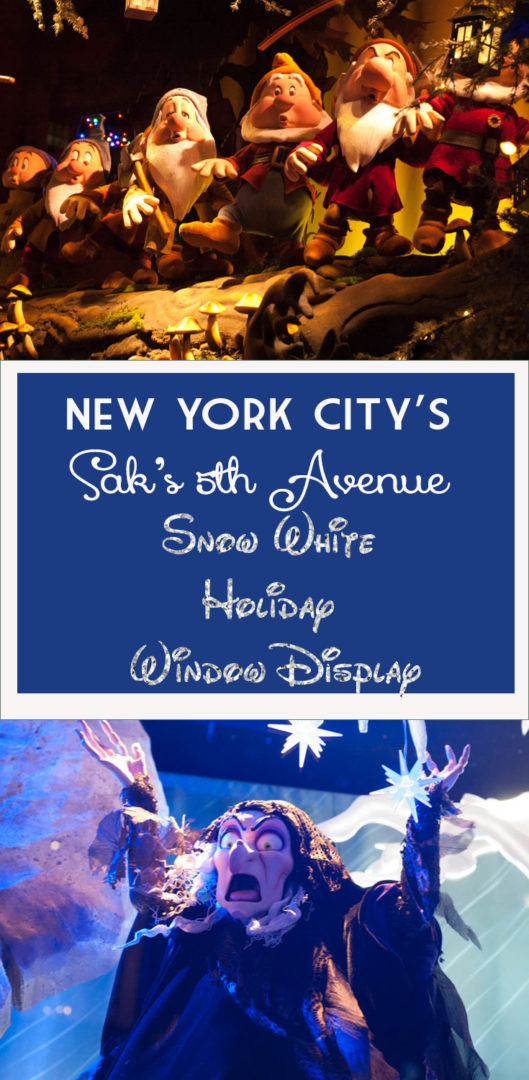 The highlight of a holiday trip to the big apple! New Snow WhiteSak's Fifth Avenue Window Displays in New York City!