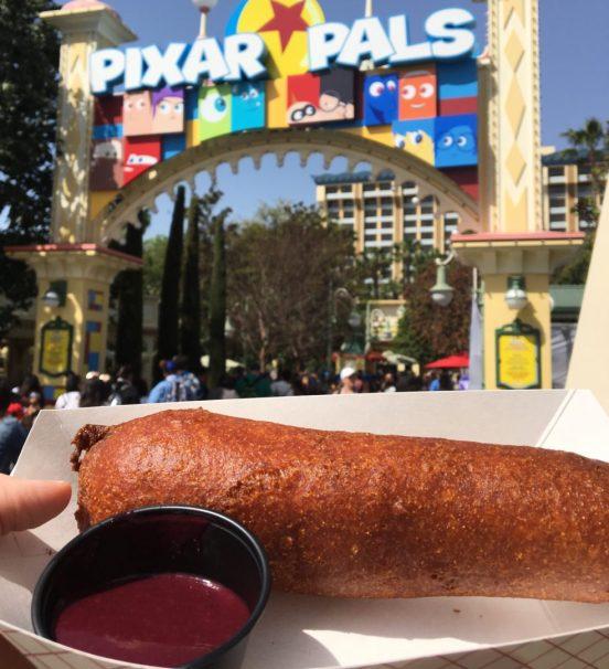 Spicy Corn Dog at Pixar Fest in California Adventure