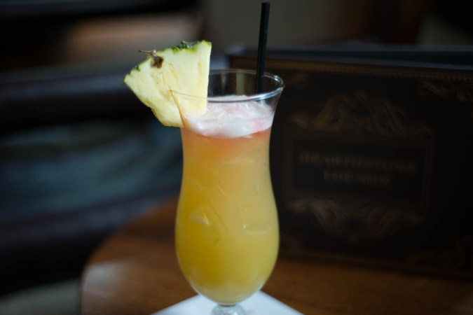 Rum Swizzle Cocktail at Hearthstone Lounge at The Grand Californian - Disneyland Activities for Adults